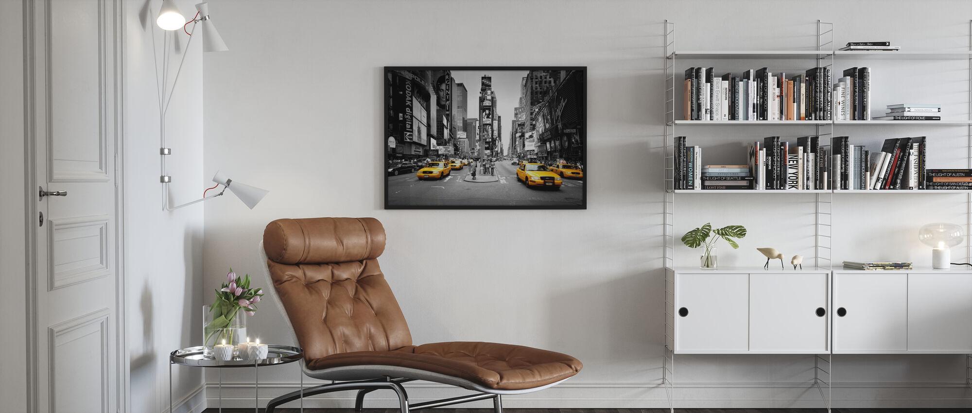 Times Square, New York, Yhdysvallat - Kehystetty kuva - Olohuone