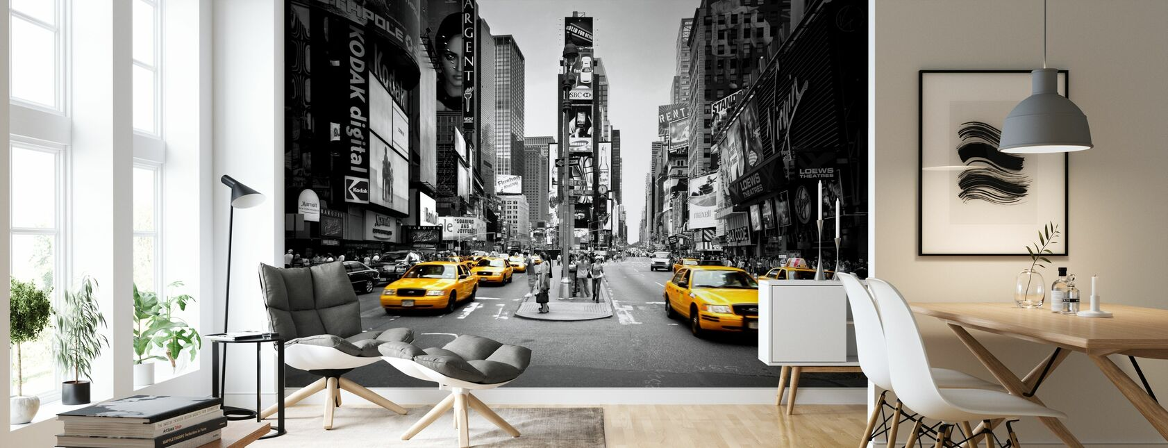 Times Square, New York, Verenigde Staten - Behang - Woonkamer