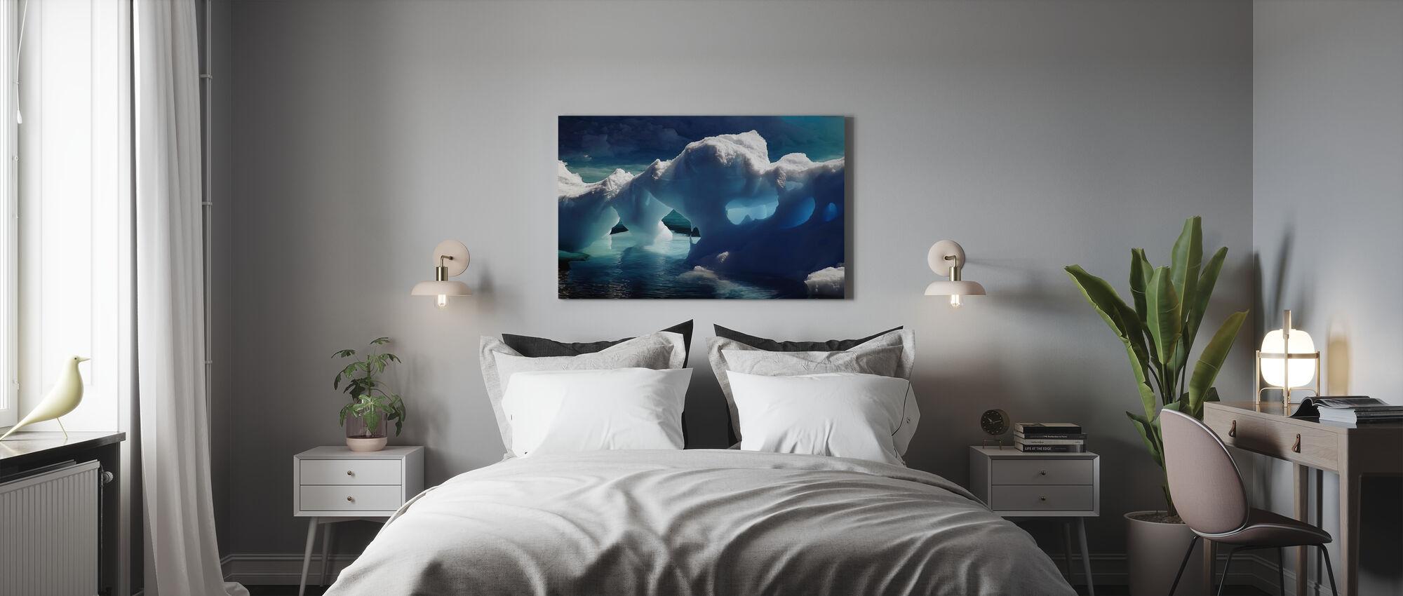 Antarktis isgrotter - Lerretsbilde - Soverom