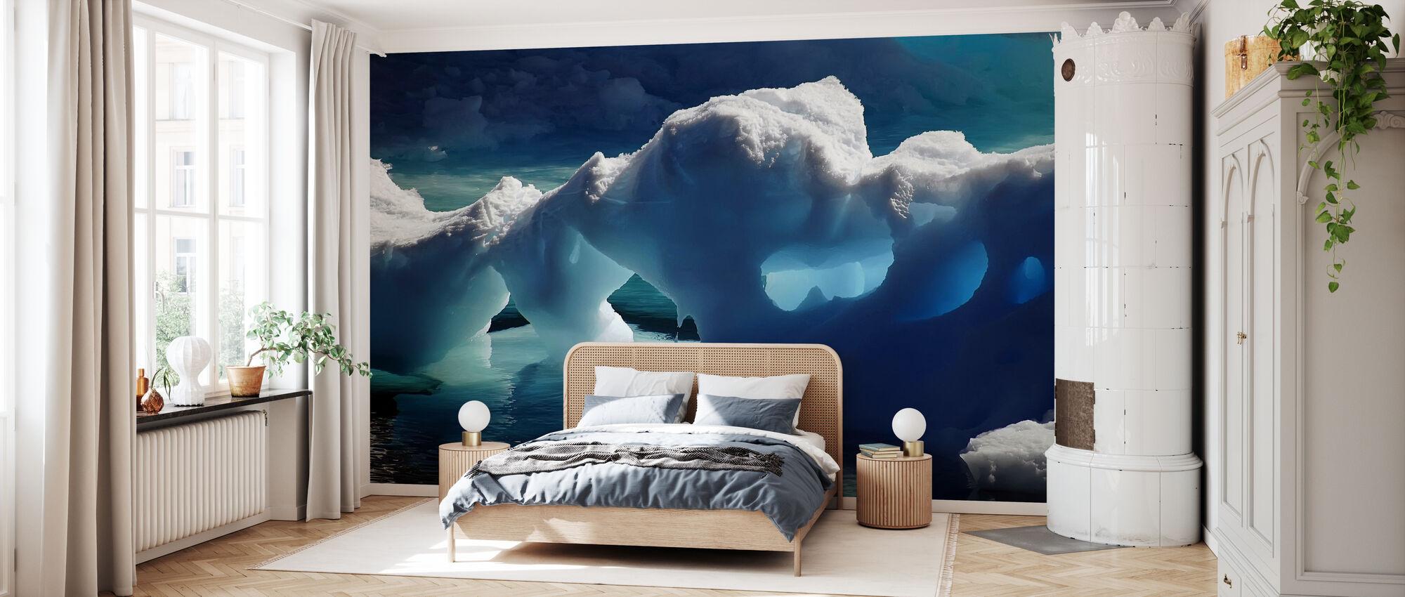 Antarctische ijsgrotten - Behang - Slaapkamer