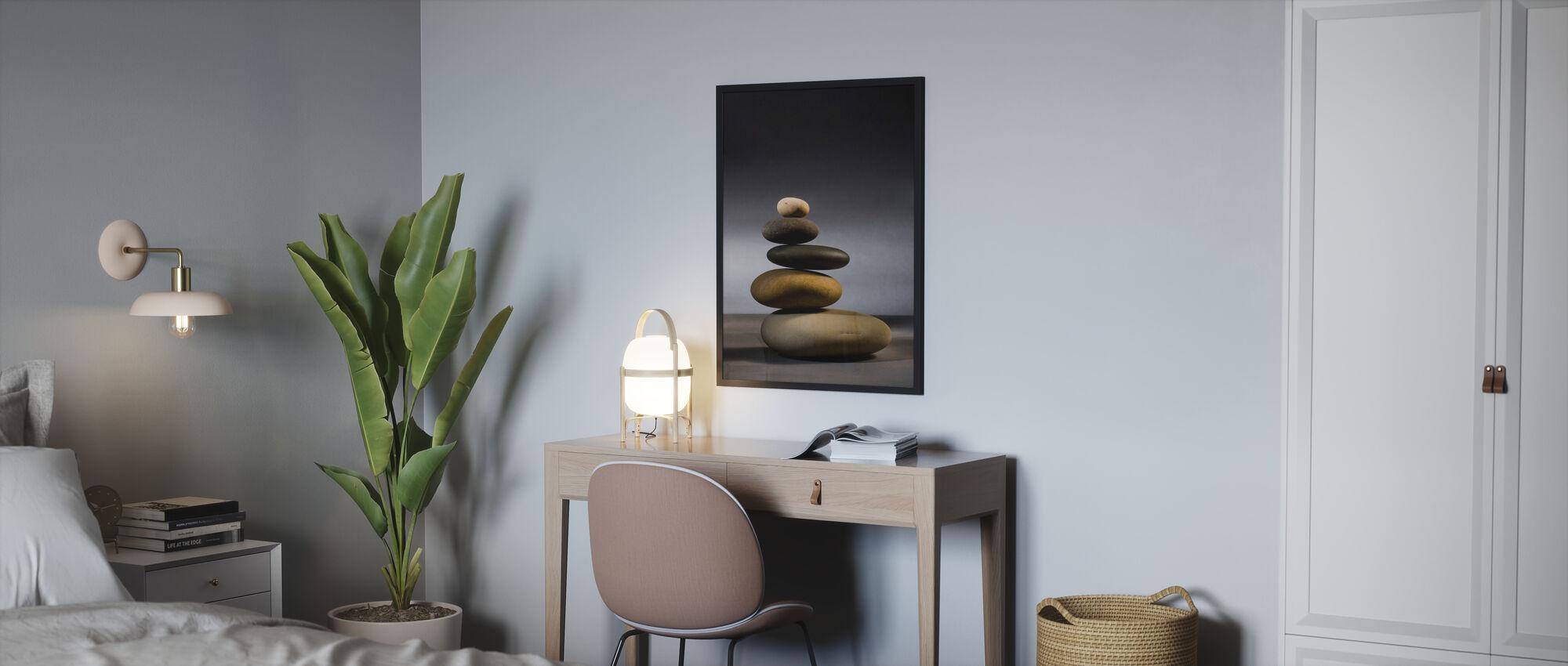 Stones in Zen Balance - Framed print - Bedroom