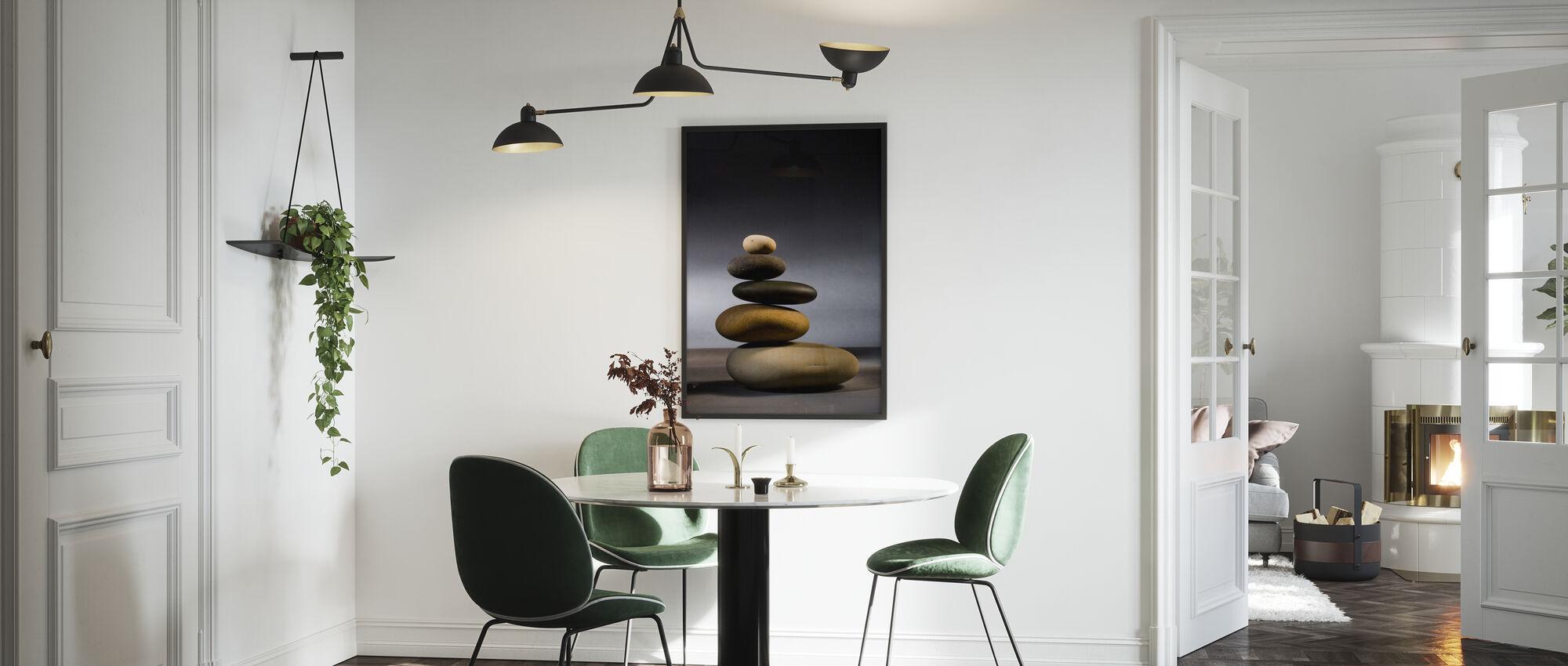 Steine im Zen-Gleichgewicht - Poster - Küchen