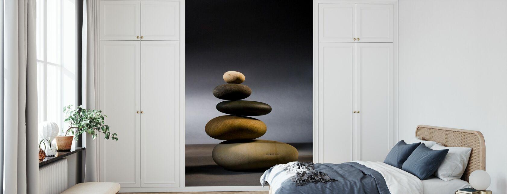 Kivet Zen-tasapainossa - Tapetti - Makuuhuone