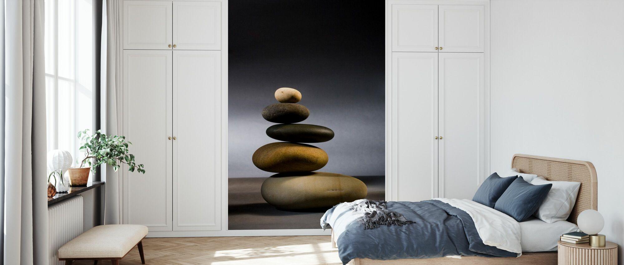 Steiner i Zen-balanse - Tapet - Soverom