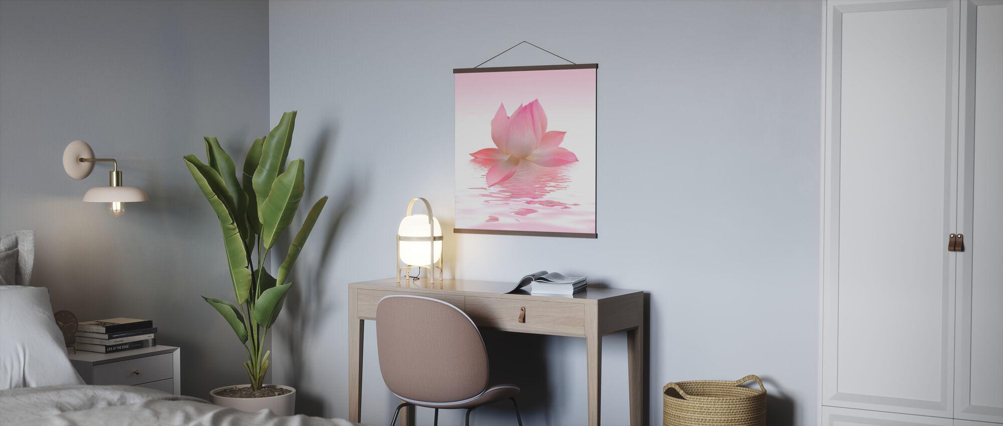Pink Lotus - Poster - Office