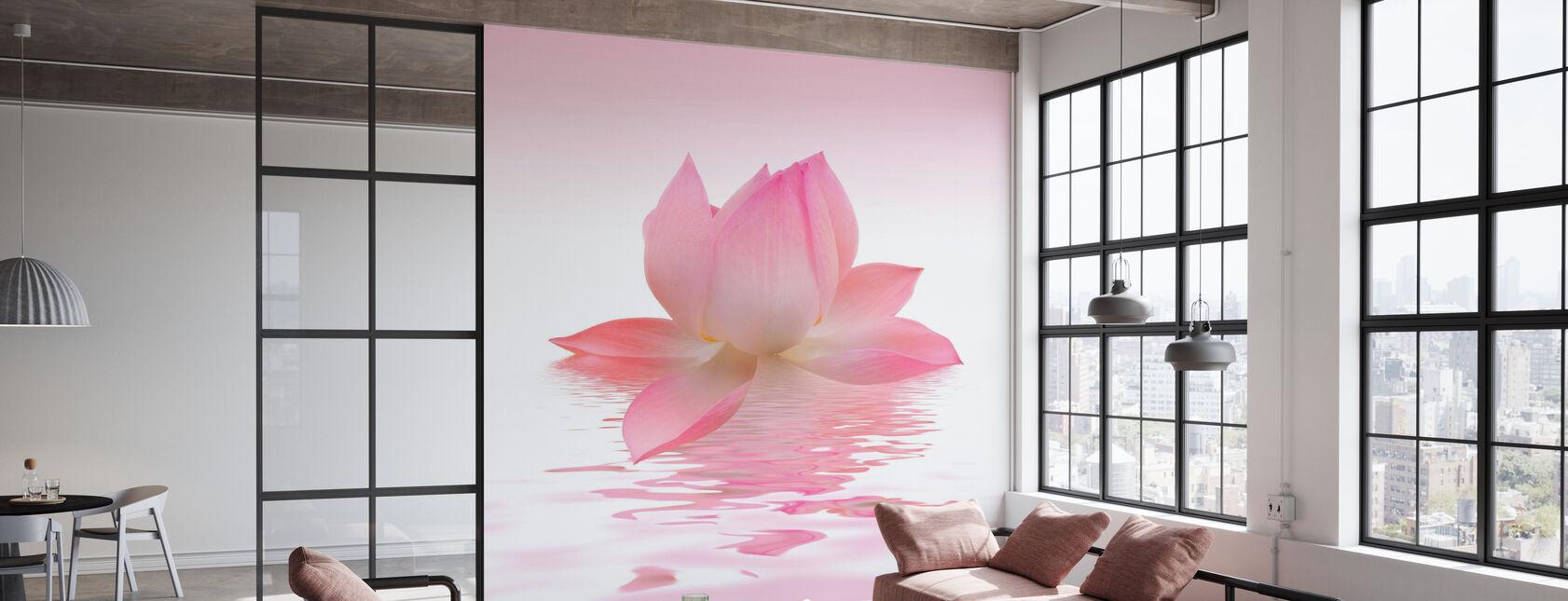 Pink Lotus - Wallpaper - Office