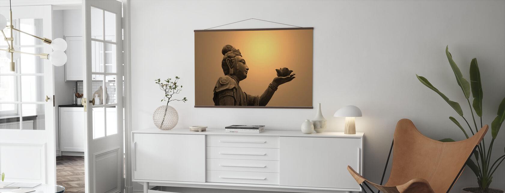Boeddhistische standbeeld, Hongkong - Poster - Woonkamer