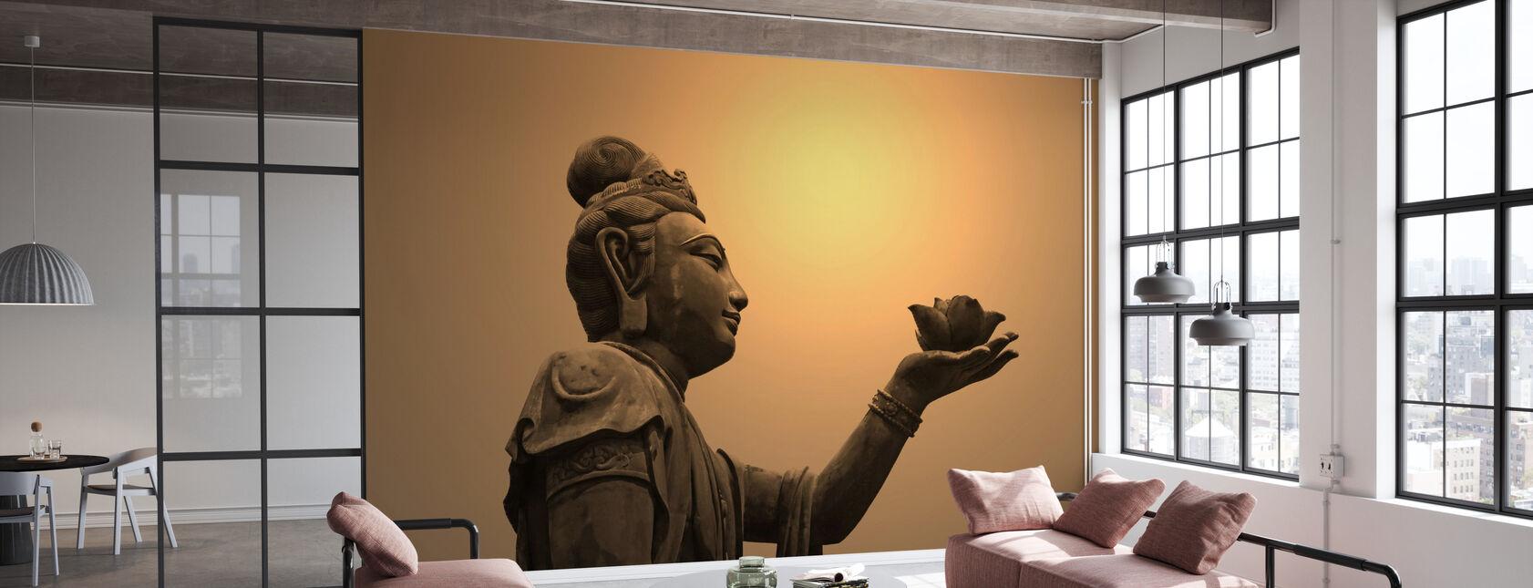 Buddhistiske Statue, Hongkong - Tapet - Kontor