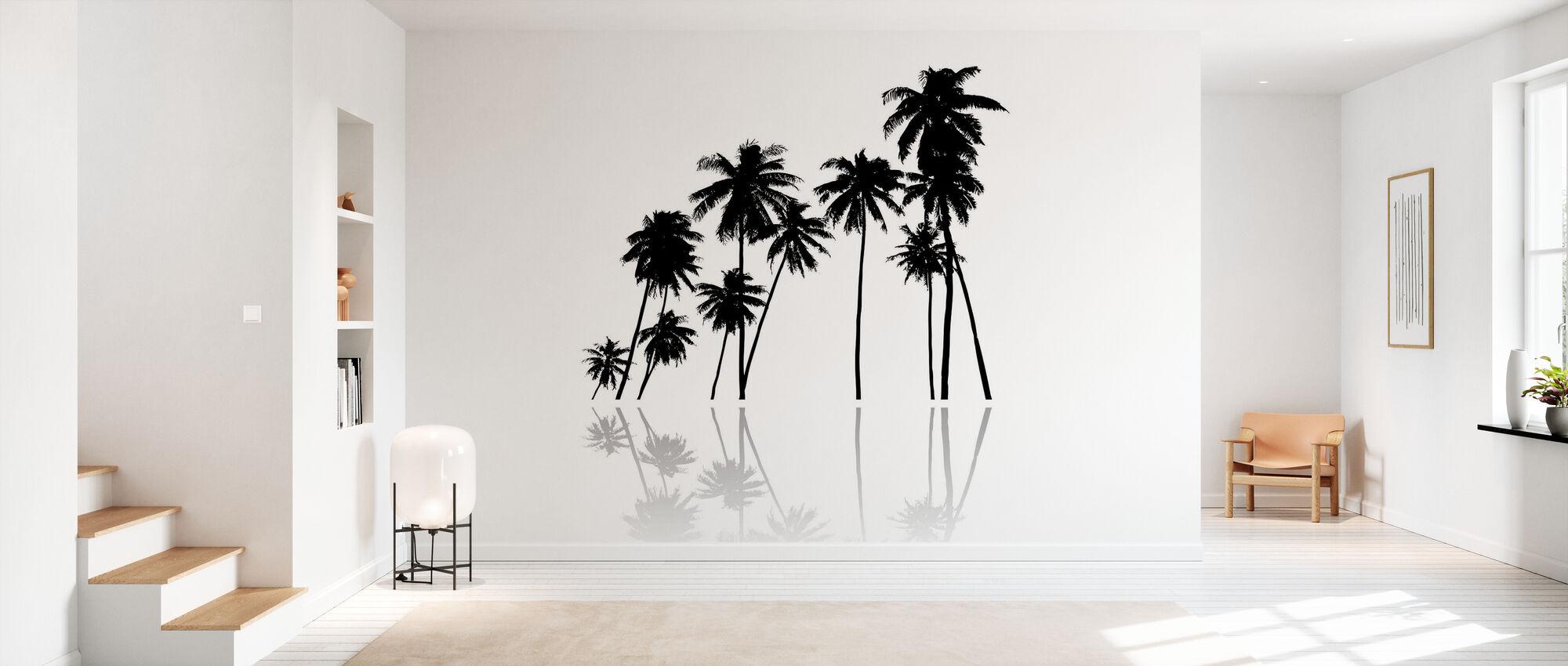 Black Palms - Wallpaper - Hallway