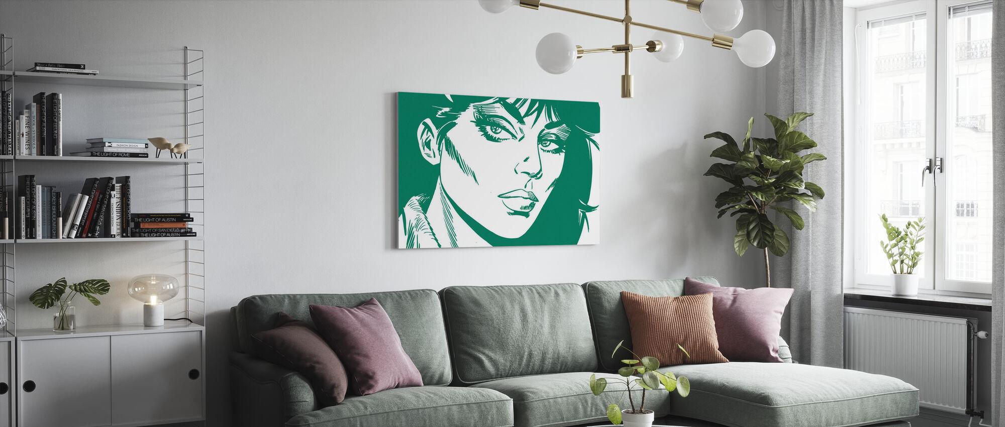 Modesty - Visage Vert - Impression sur toile - Salle à manger
