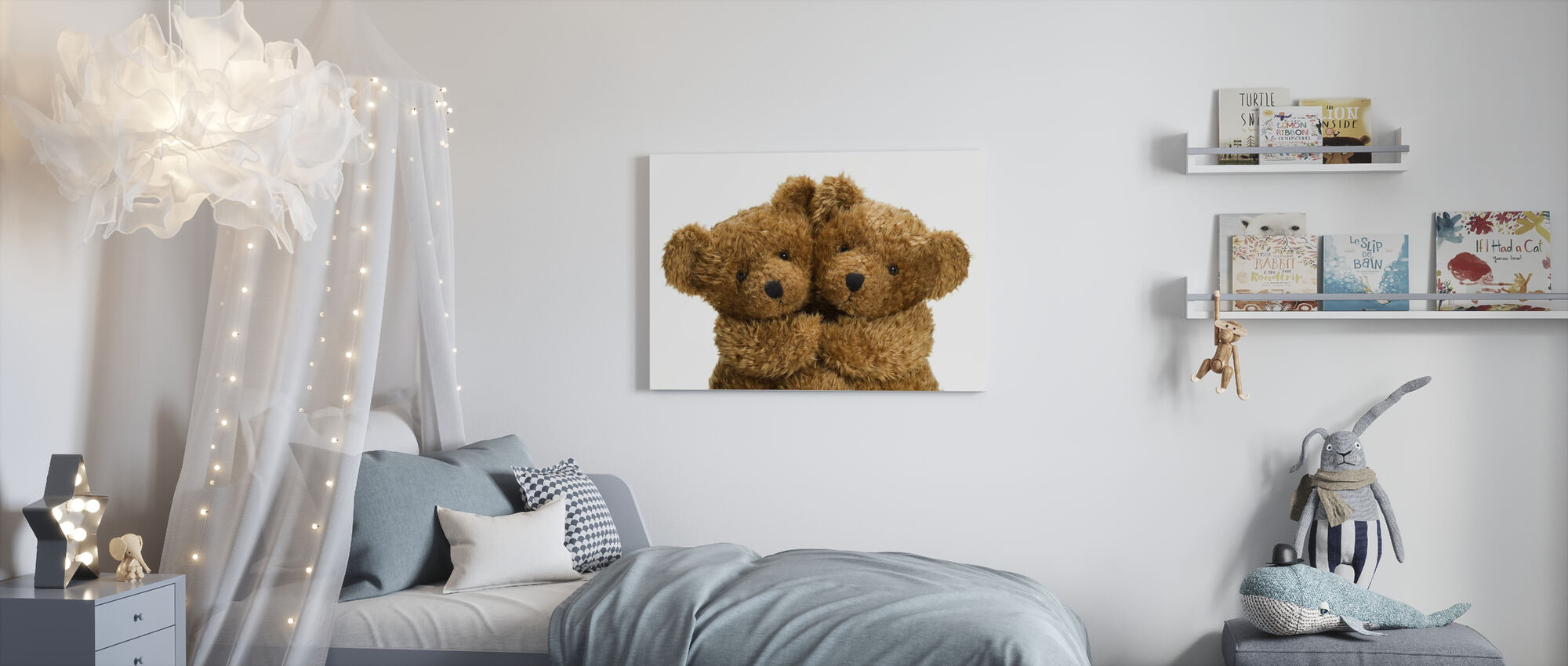Doudou ours en peluche - Impression sur toile - Chambre des enfants