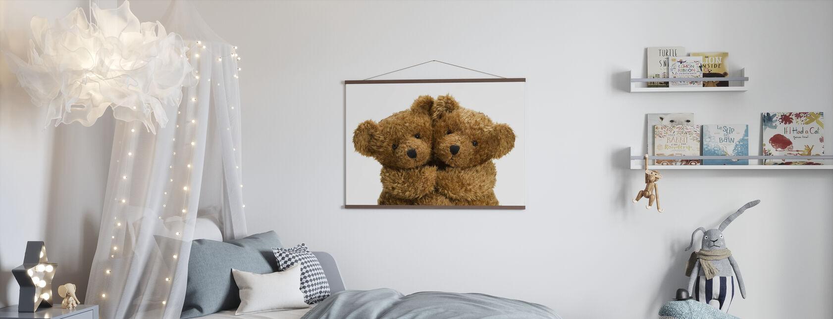 Doudou ours en peluche - Affiche - Chambre des enfants