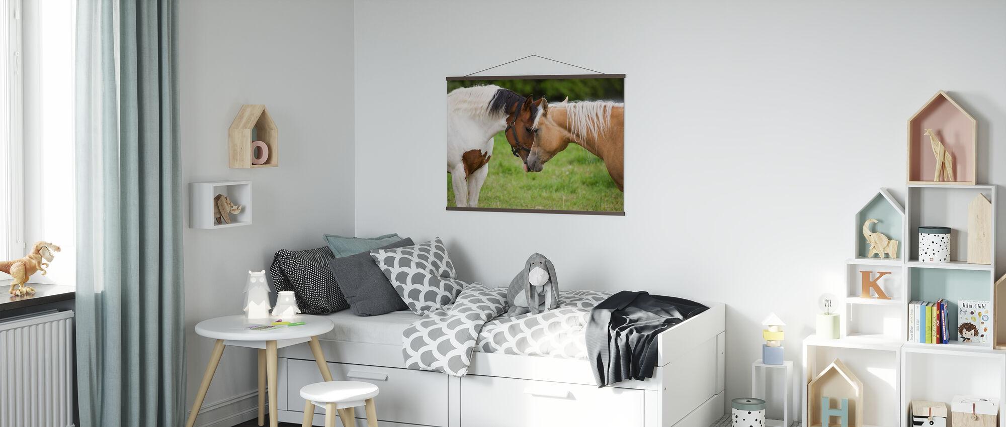 Kuschelpferde - Poster - Kinderzimmer