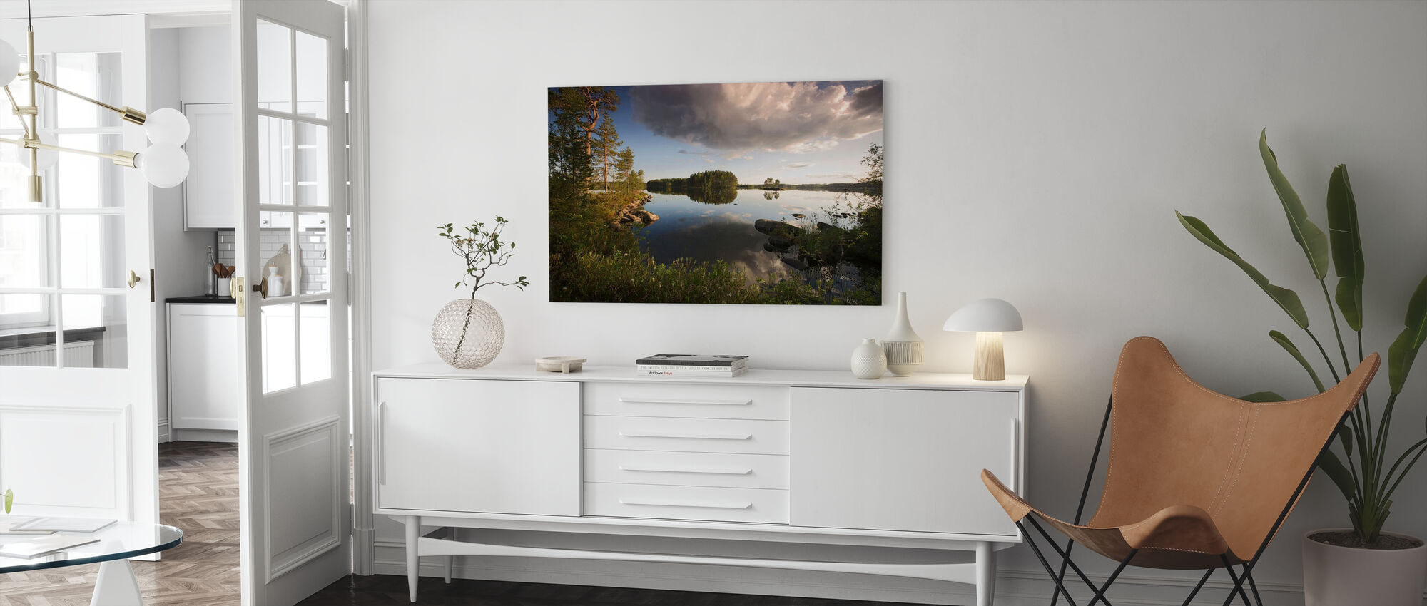 Swedish Summer Landscape - Canvas print - Living Room