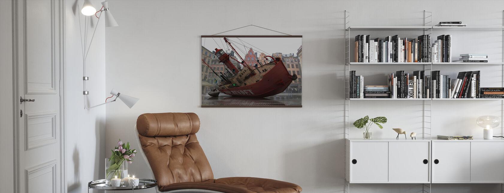 Båt i Gamla stan - Poster - Vardagsrum