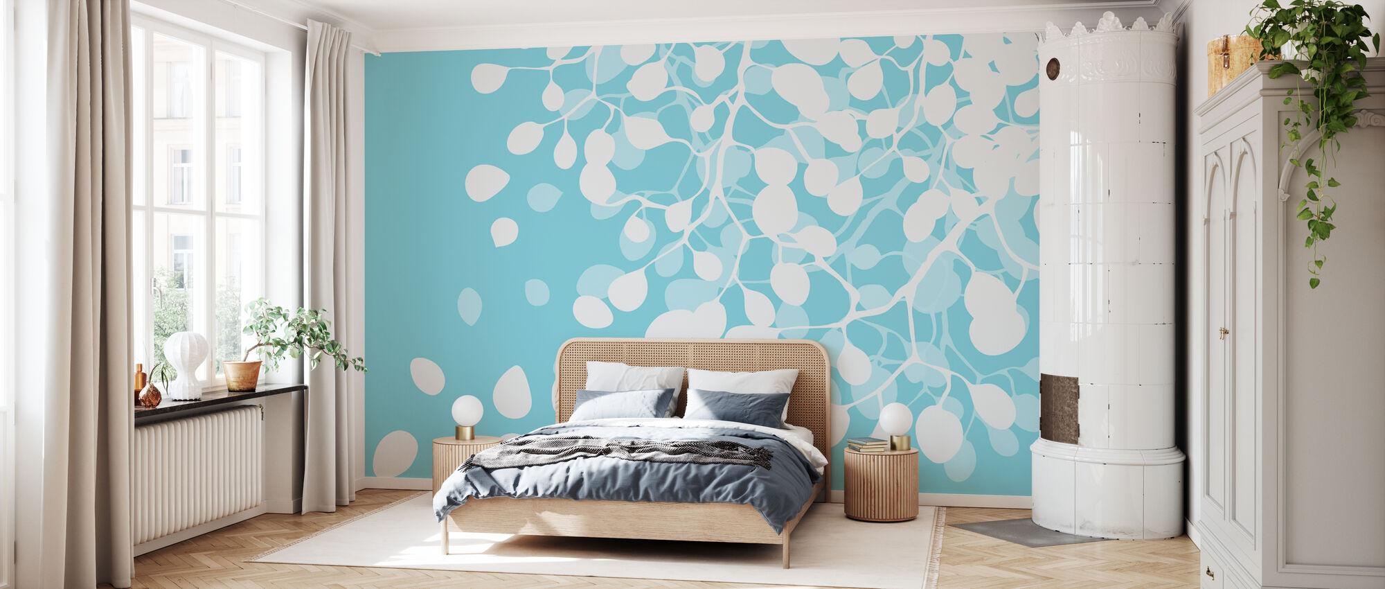 Bouleau - Turquoise - Papier peint - Chambre