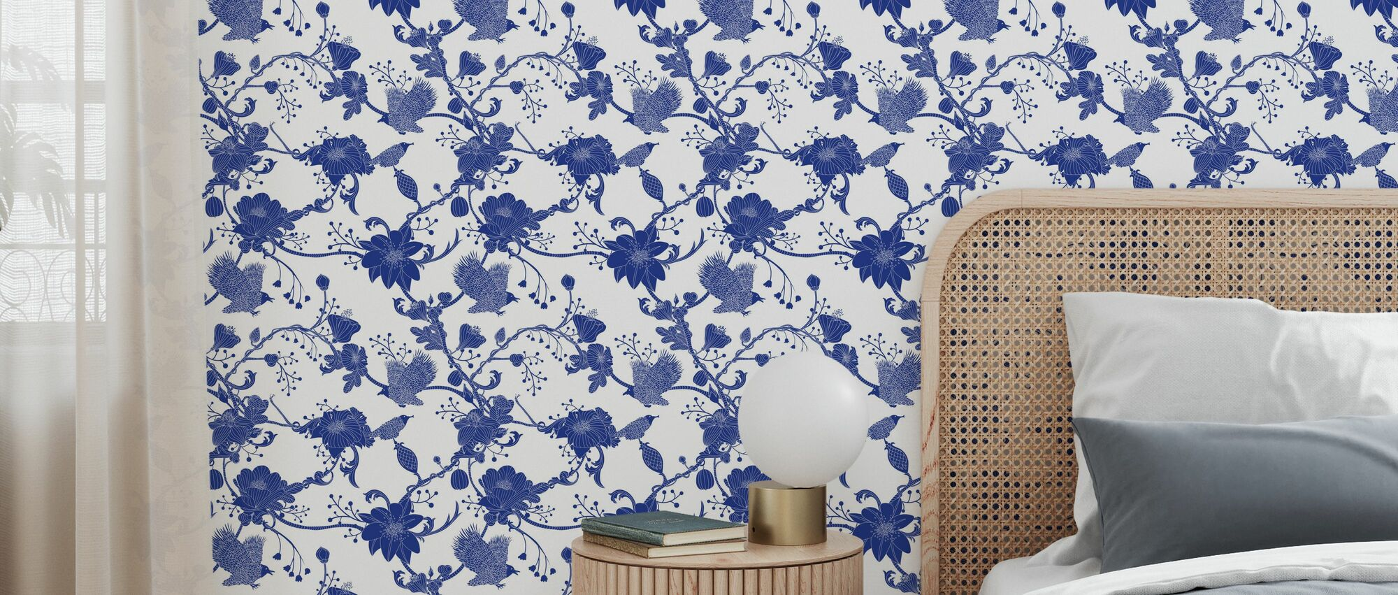 Botanica - Blue - Behang - Slaapkamer