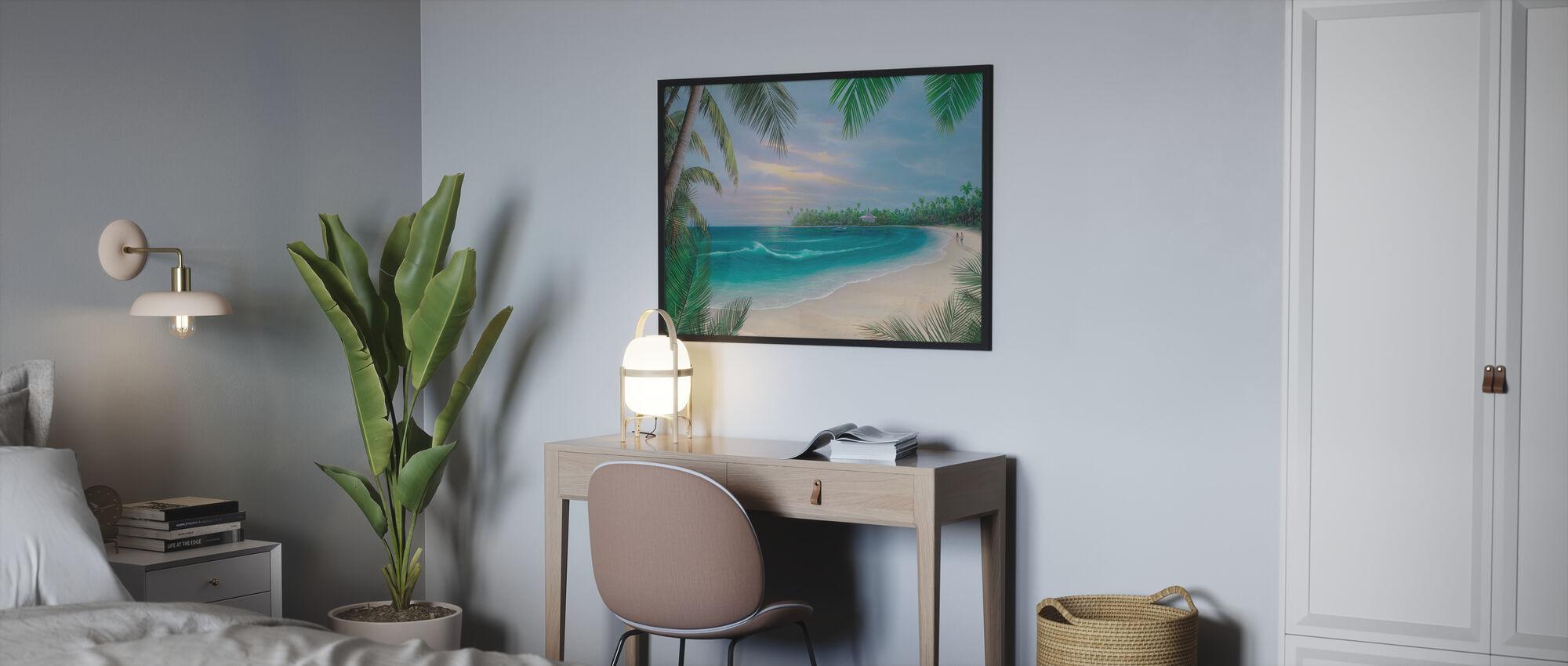 Beach House Rendezvous - Ingelijste print - Slaapkamer