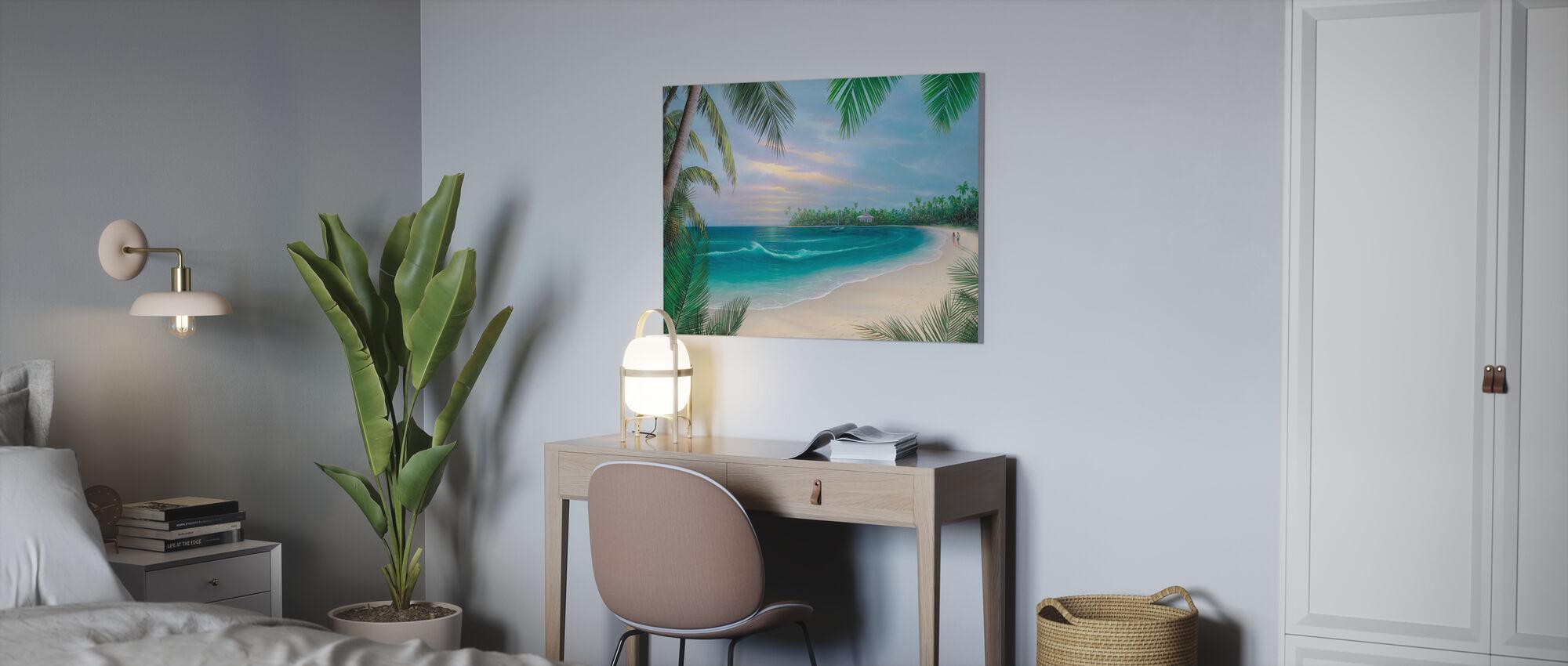 Beach House Rendezvous - Canvas print - Kantoor