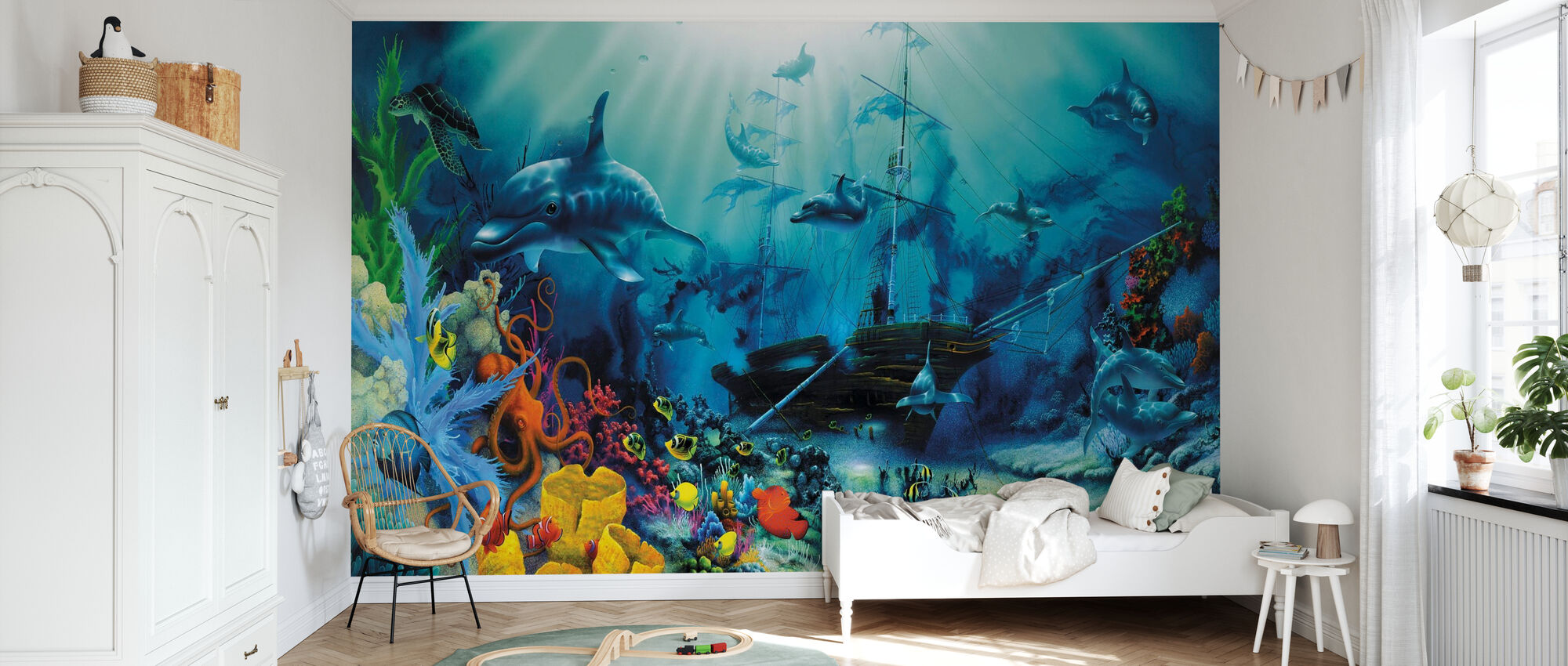 Ocean Treasures - Wallpaper - Kids Room