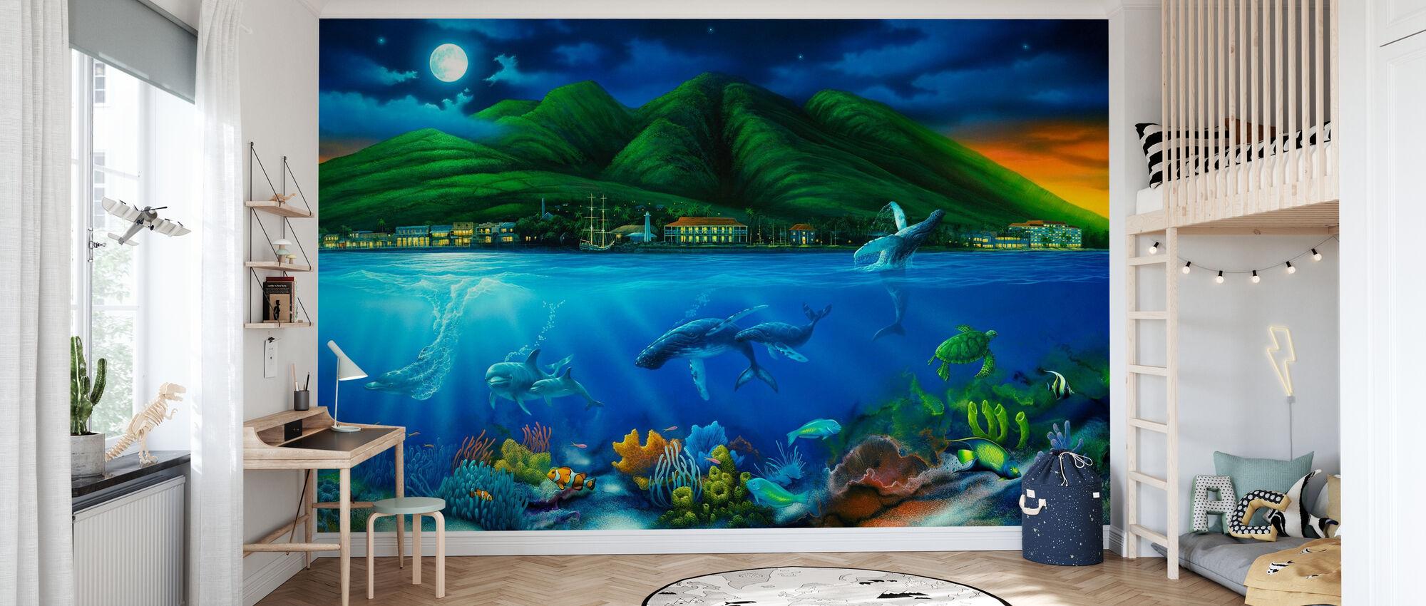 Lahaina Moon - Wallpaper - Kids Room