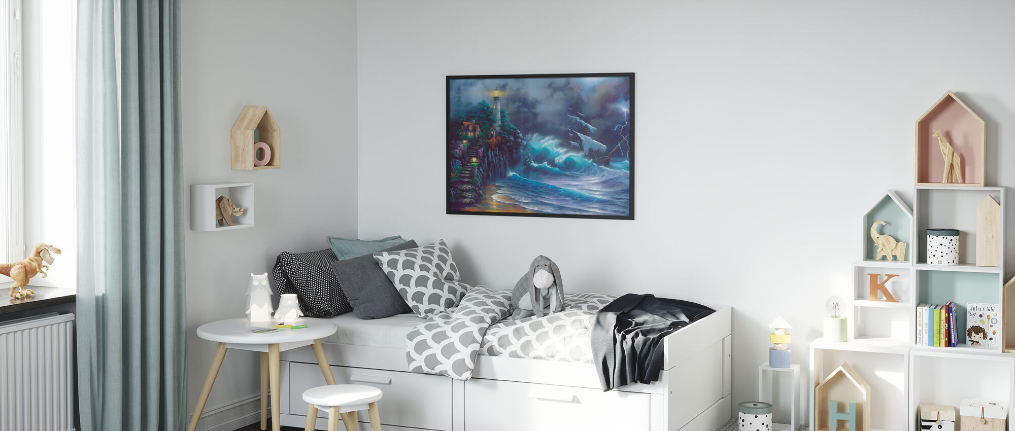 Revenge of the Sea - Framed print - Kids Room