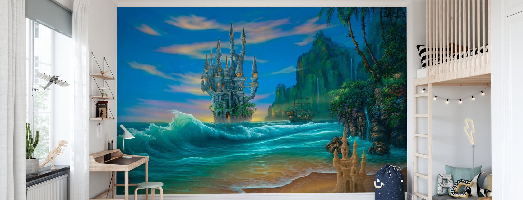Fantasy Beach - Tapet - Børneværelse