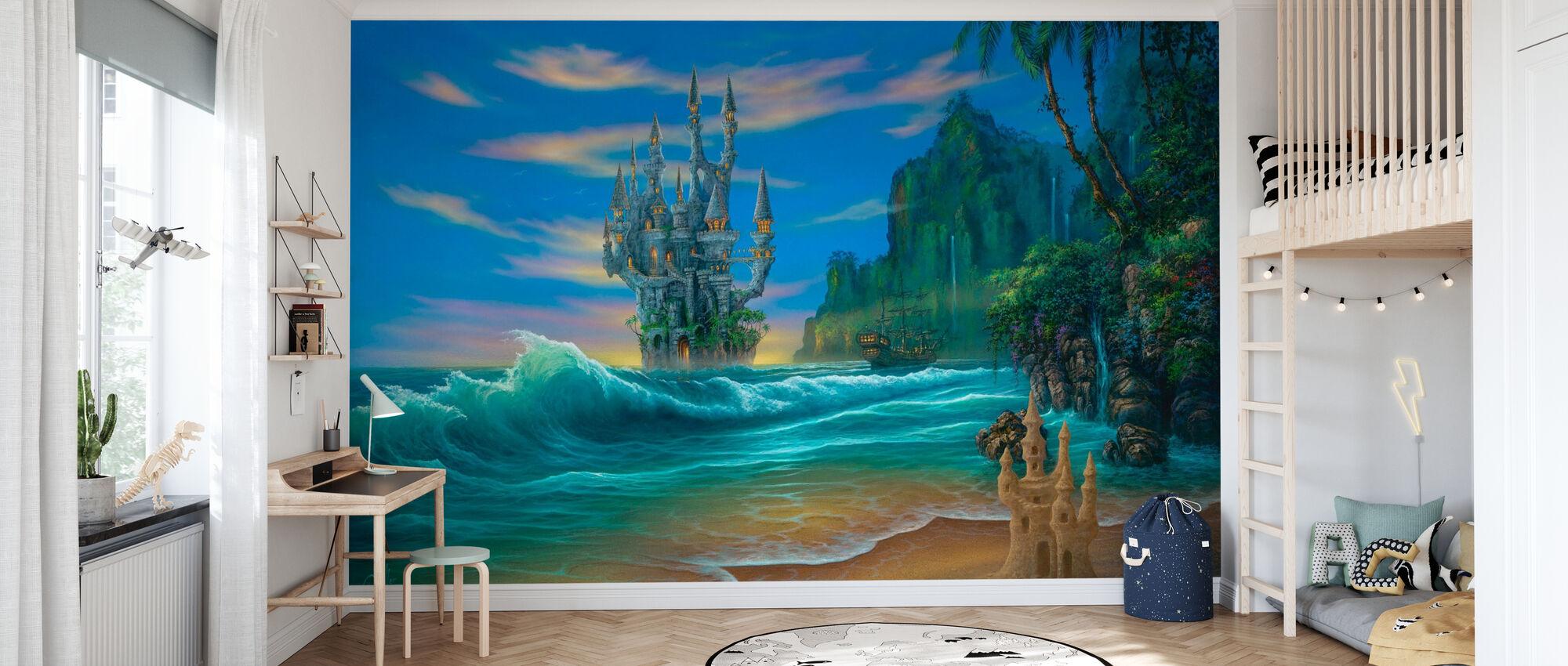 Fantasy Beach - Wallpaper - Kids Room