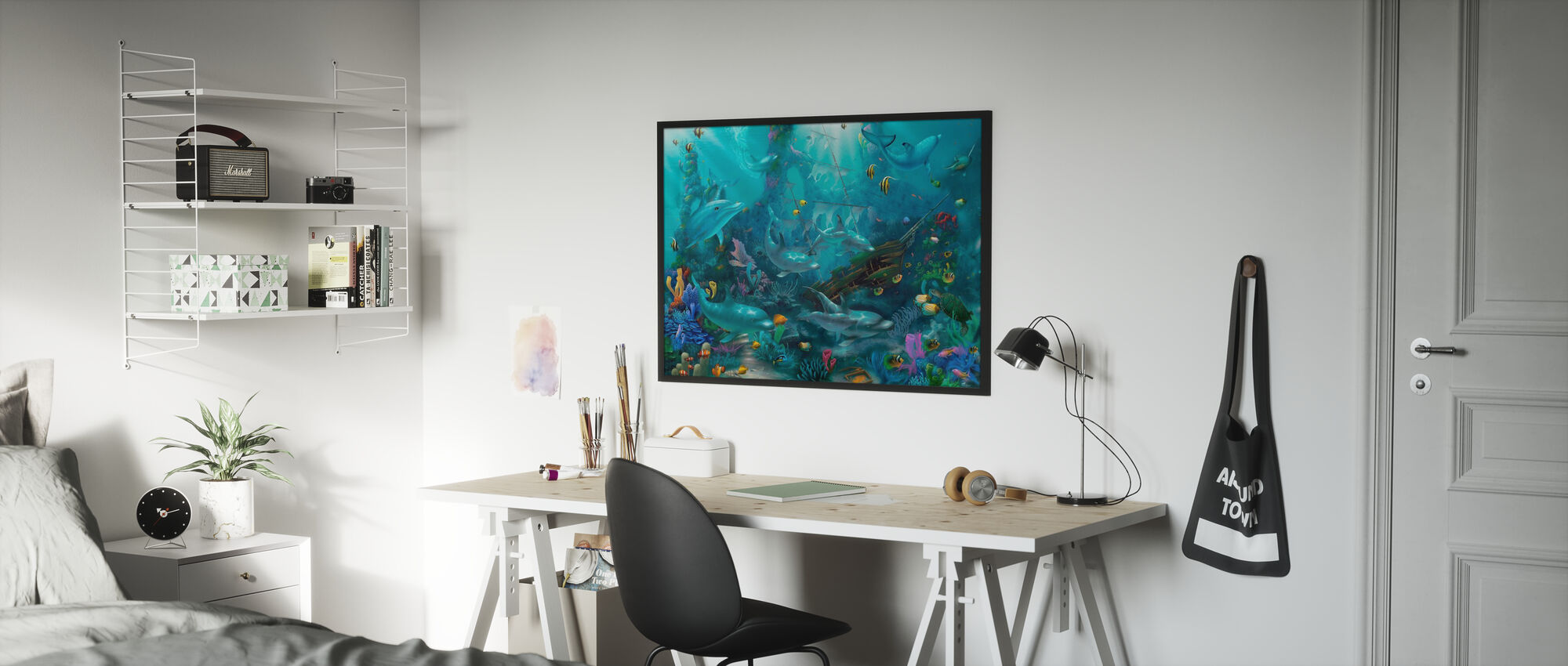 Dolphin Treasures - Poster - Kids Room