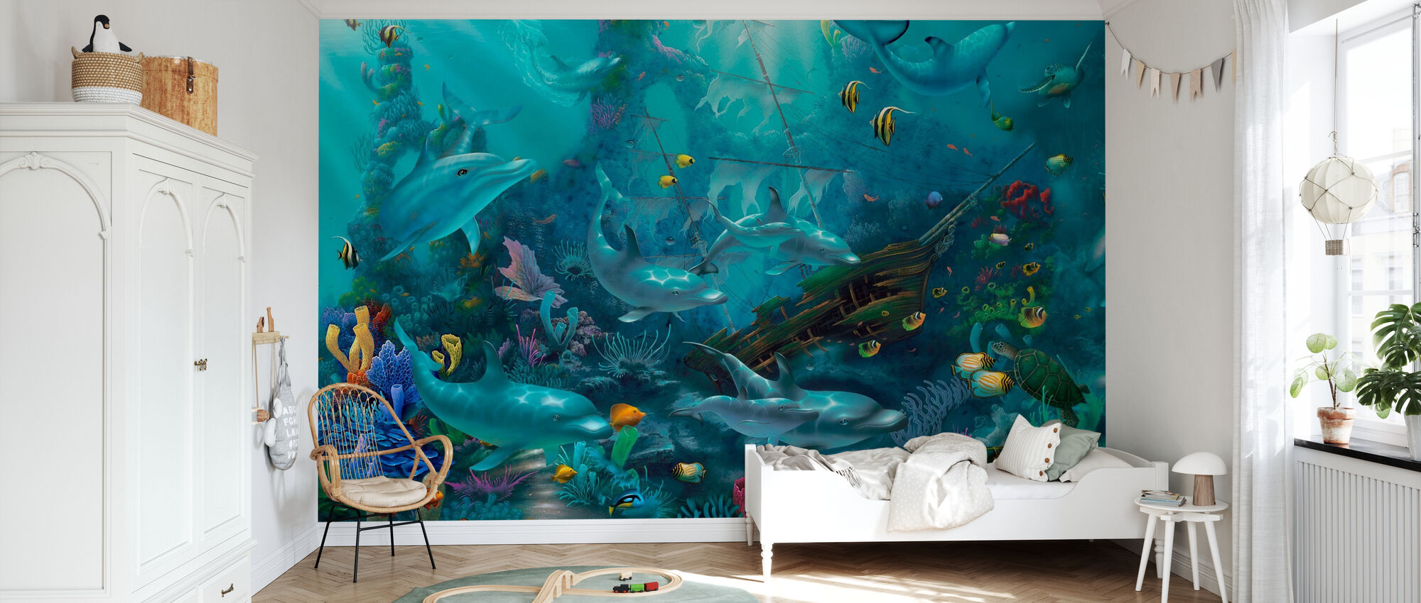 Dolphin Treasures - Wallpaper - Kids Room