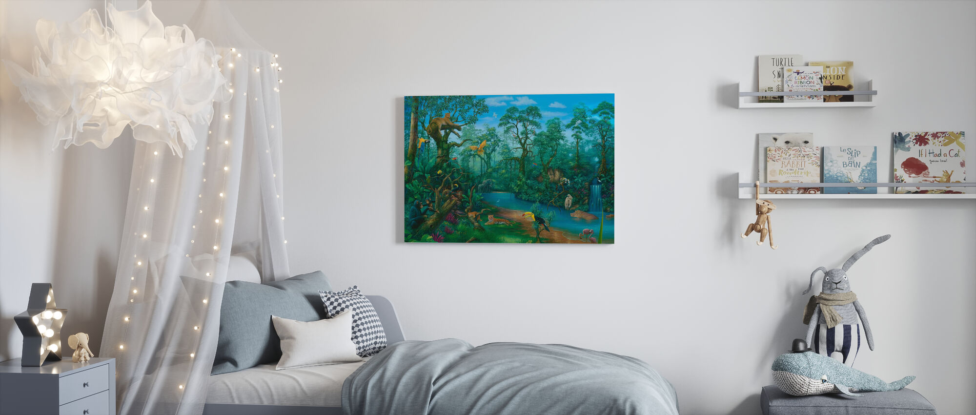 Det är en djungel där ute - Canvastavla - Barnrum