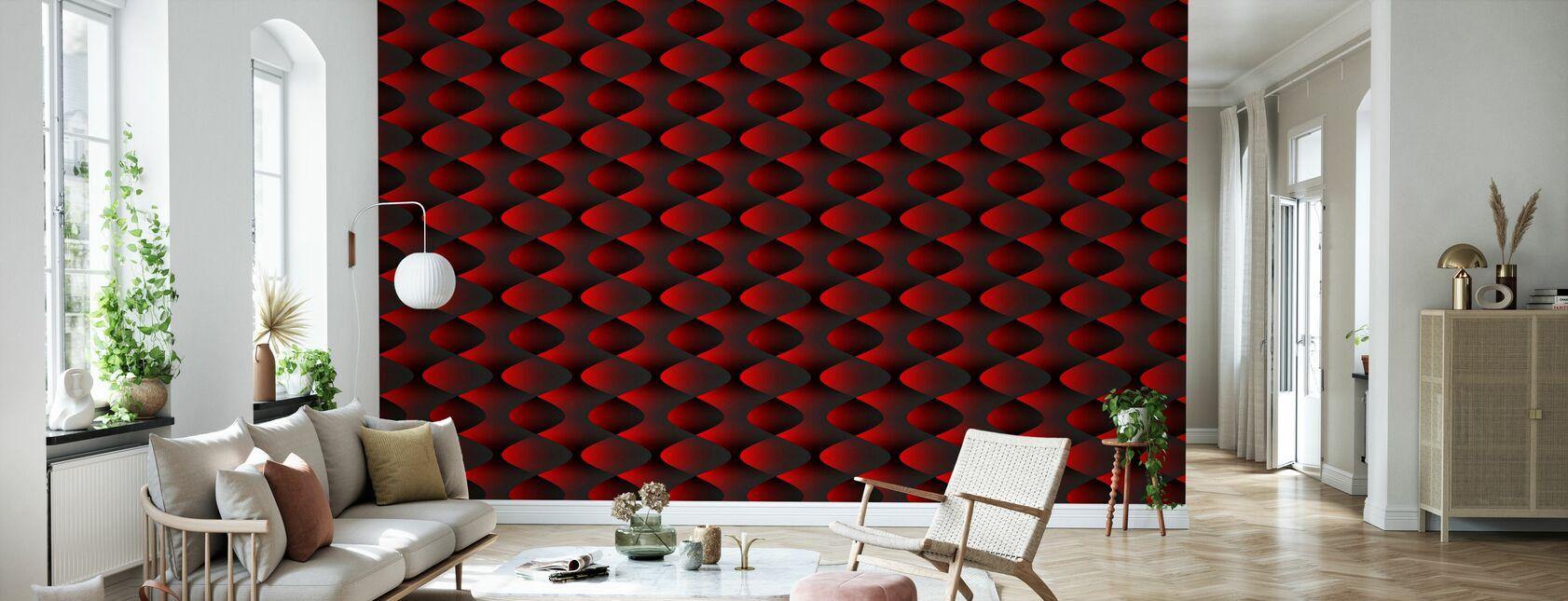 Rouge - Papier peint - Salle à manger