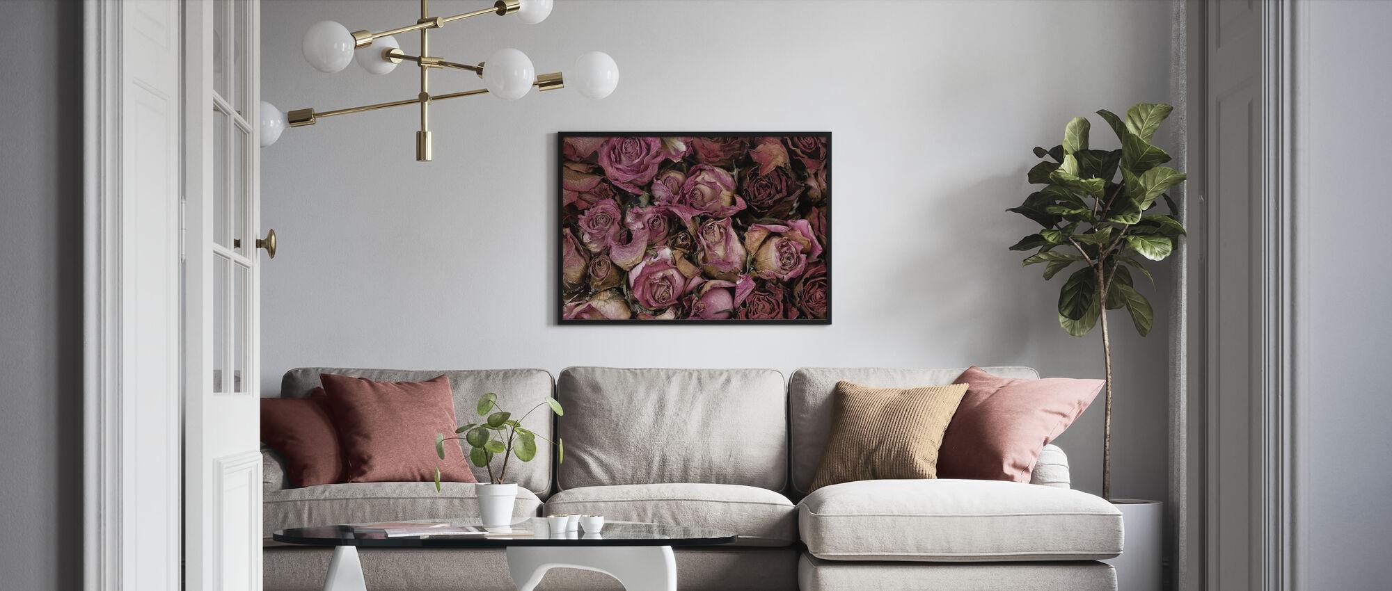Dried Roses - Framed print - Living Room