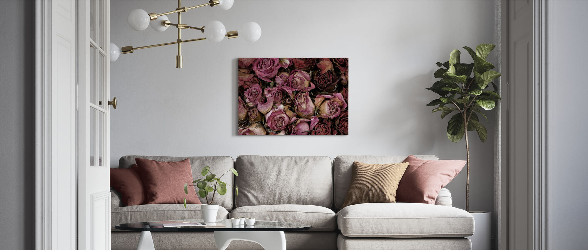 Dried Roses - Canvas print - Living Room