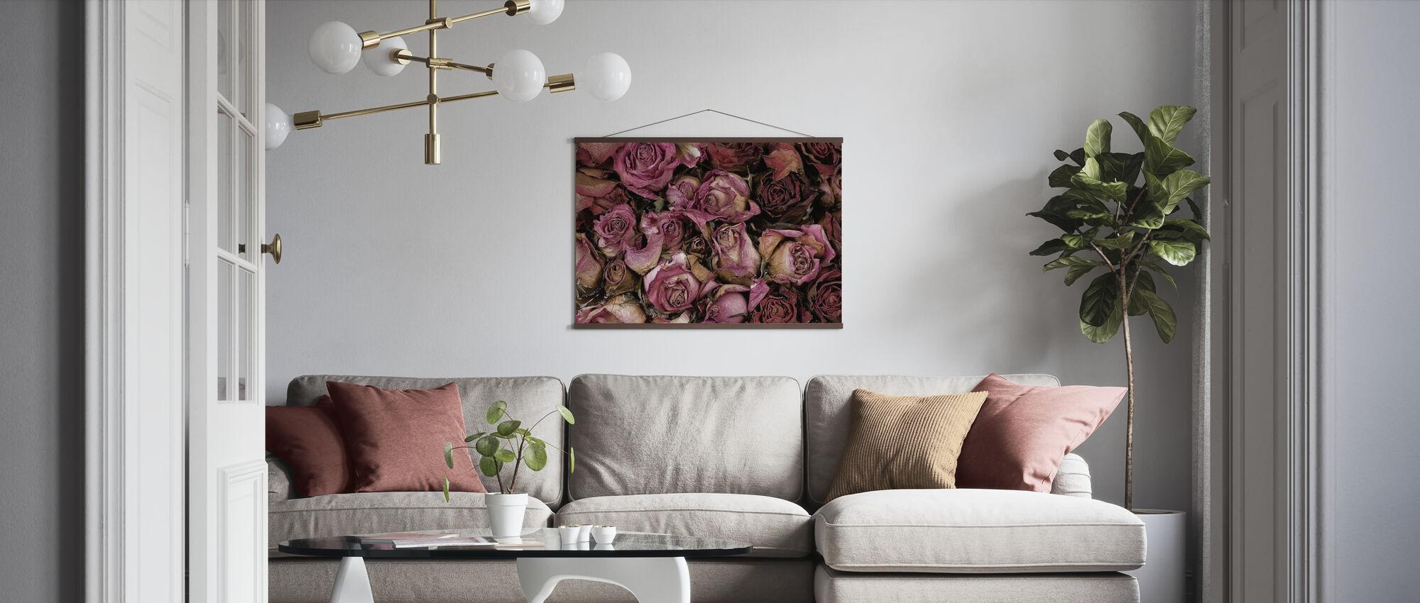 Torkade rosor - Poster - Vardagsrum