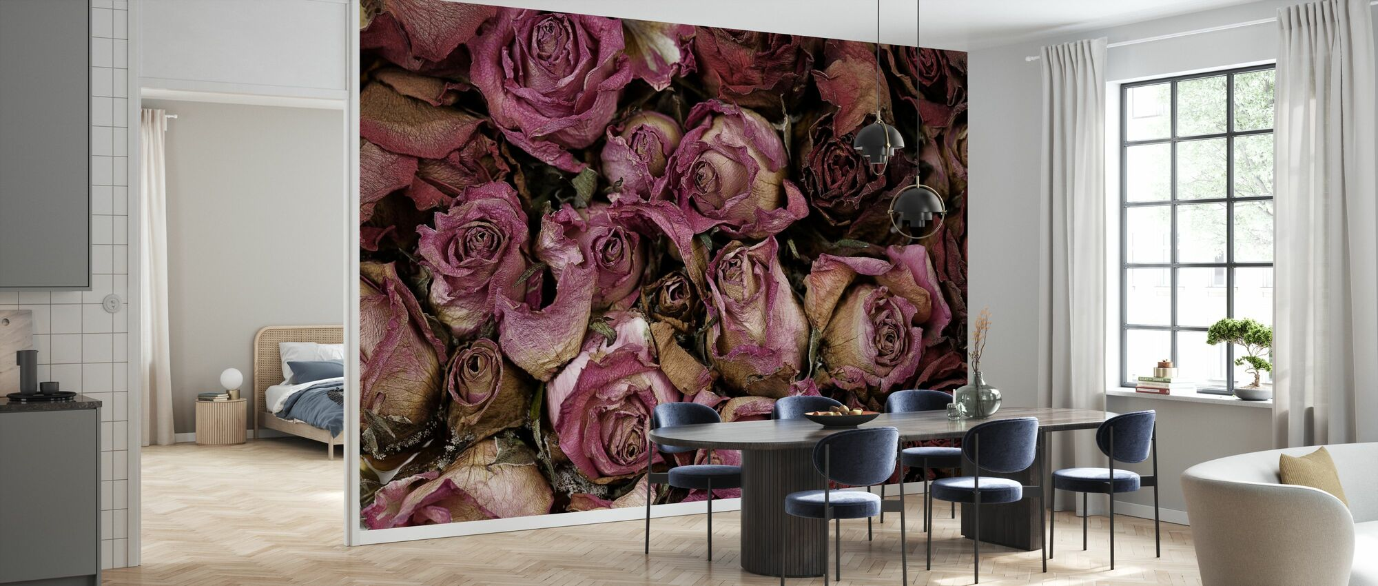 Dried Roses - Wallpaper - Kitchen