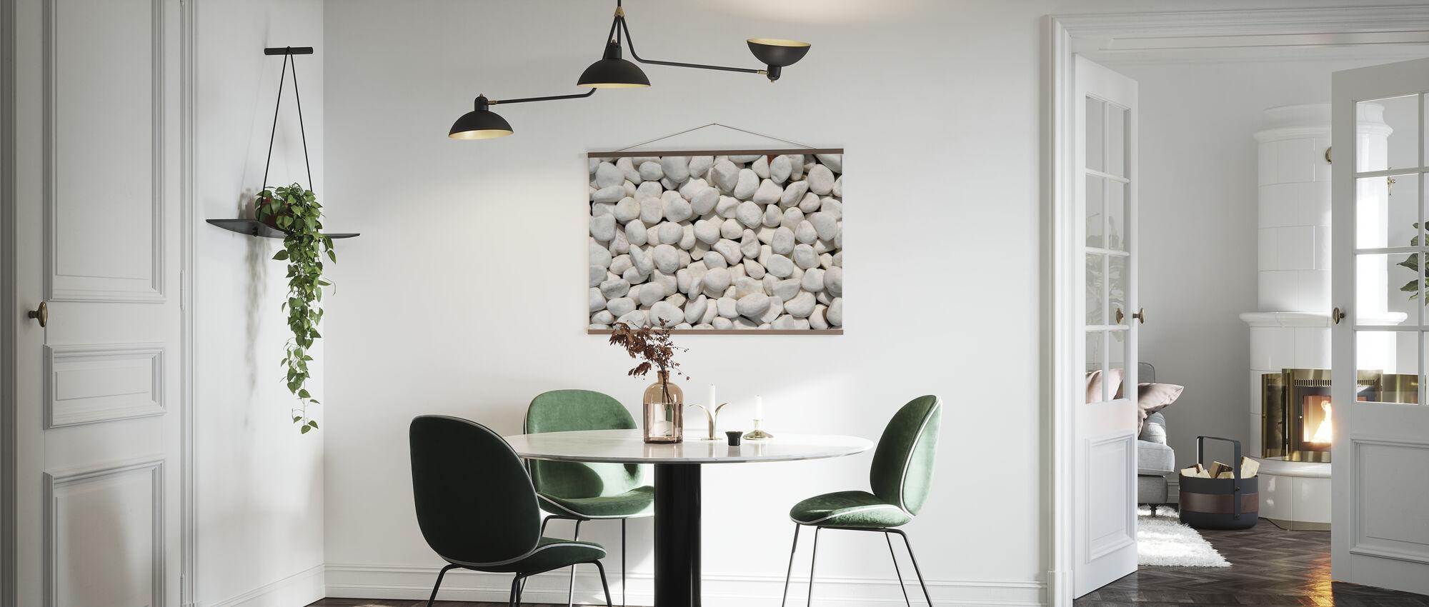 Sonnige Kieselsteine - Poster - Küchen