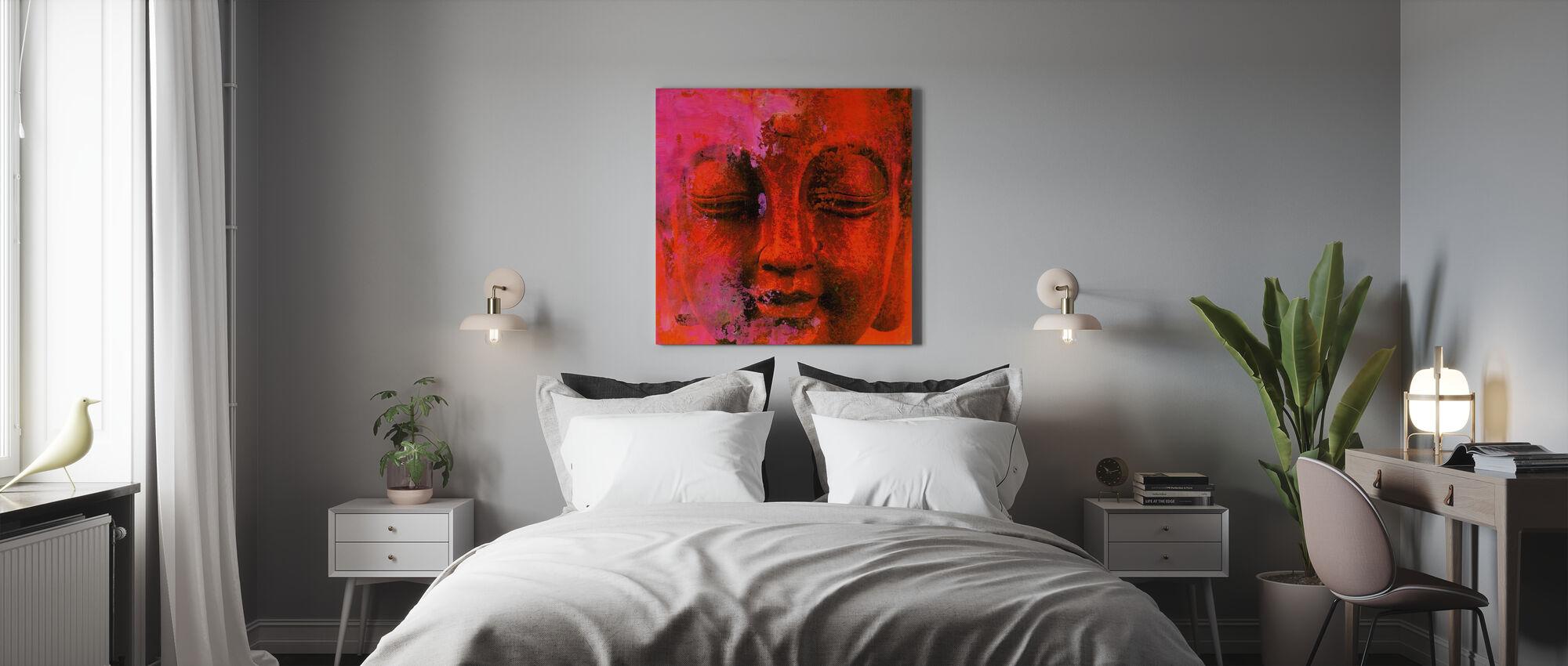 Punainen Buddha - Canvastaulu - Makuuhuone