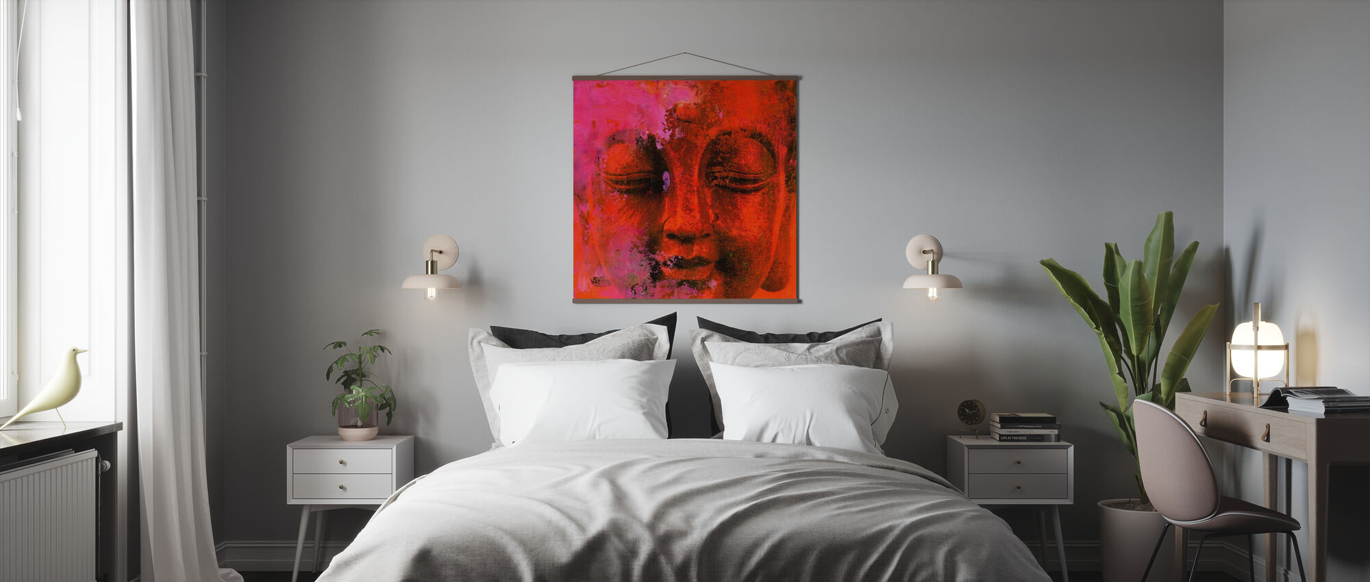 Red Buddha - Poster - Bedroom