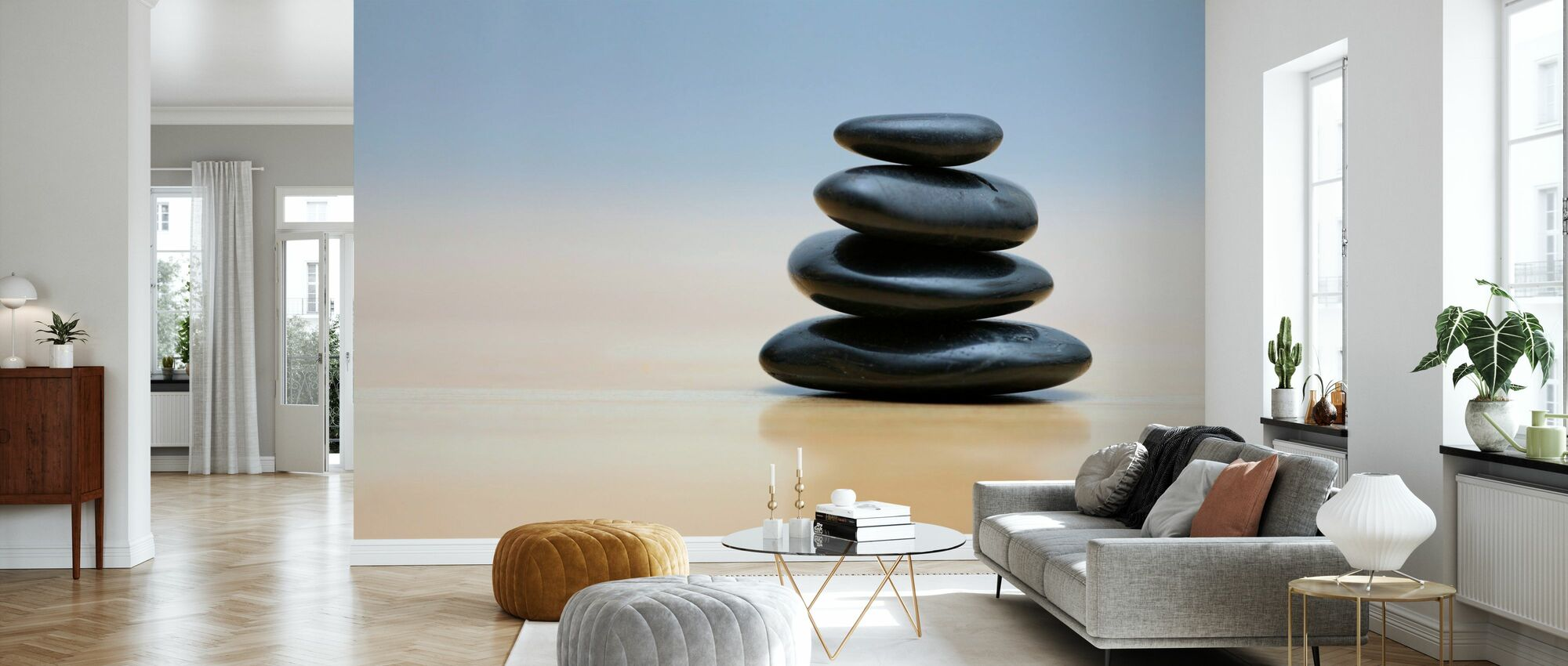 Zen Stones - Wallpaper - Living Room