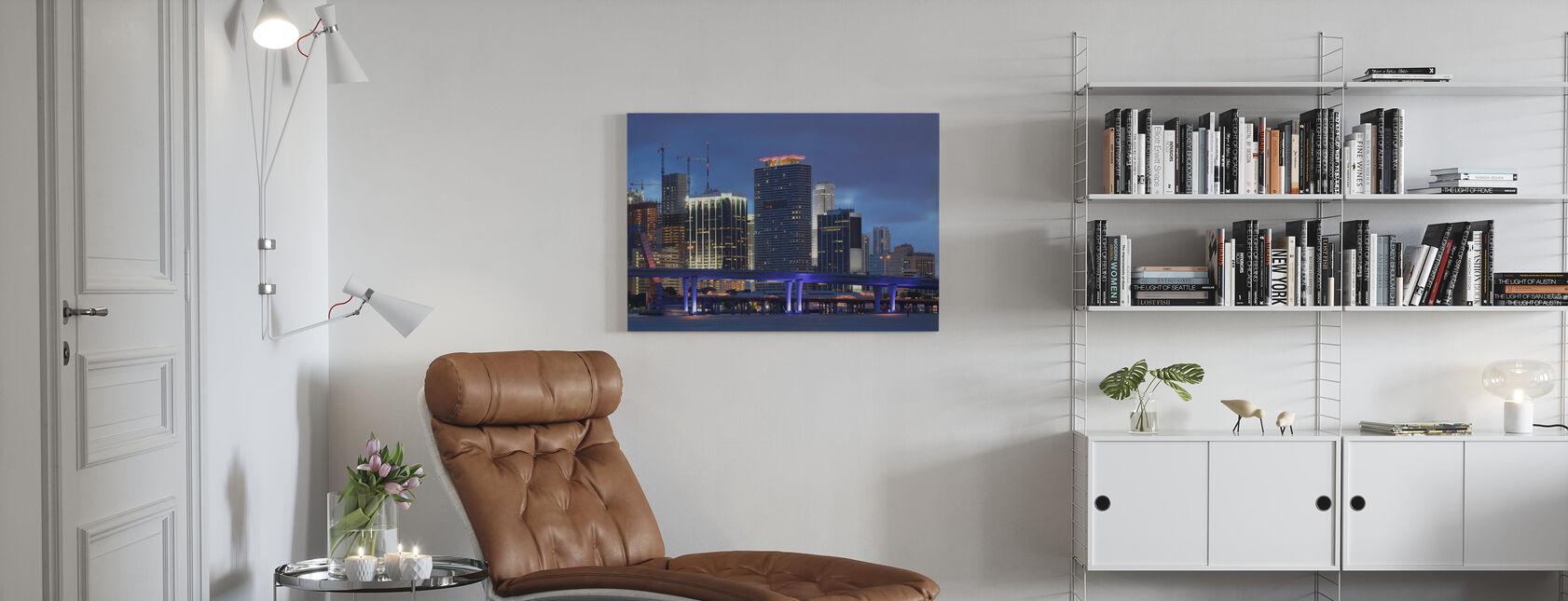 Downtown Miami, Florida - Canvas print - Living Room
