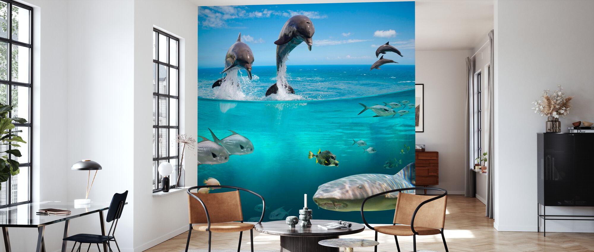 Sea Life - Wallpaper - Living Room