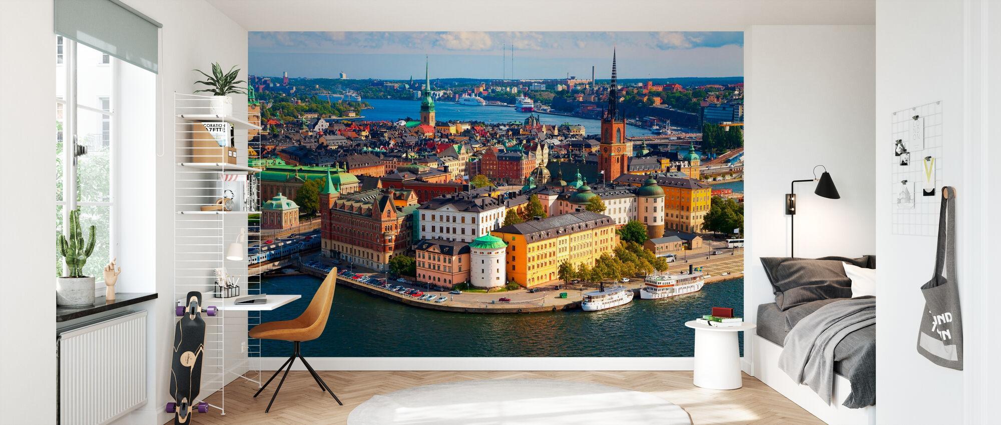 Stockholm i Sunlight - Tapet - Barnrum