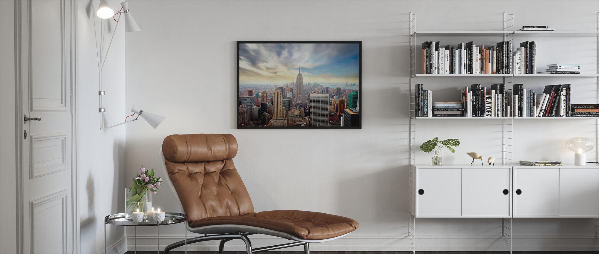 Förtrollande New York - Inramad tavla - Vardagsrum