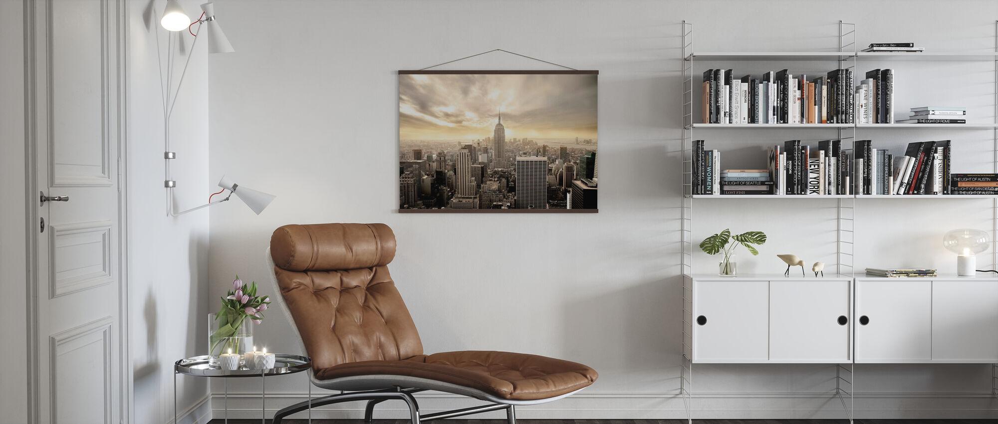 Fortryllende Ny York - Gul Himmel - Plakat - Stue