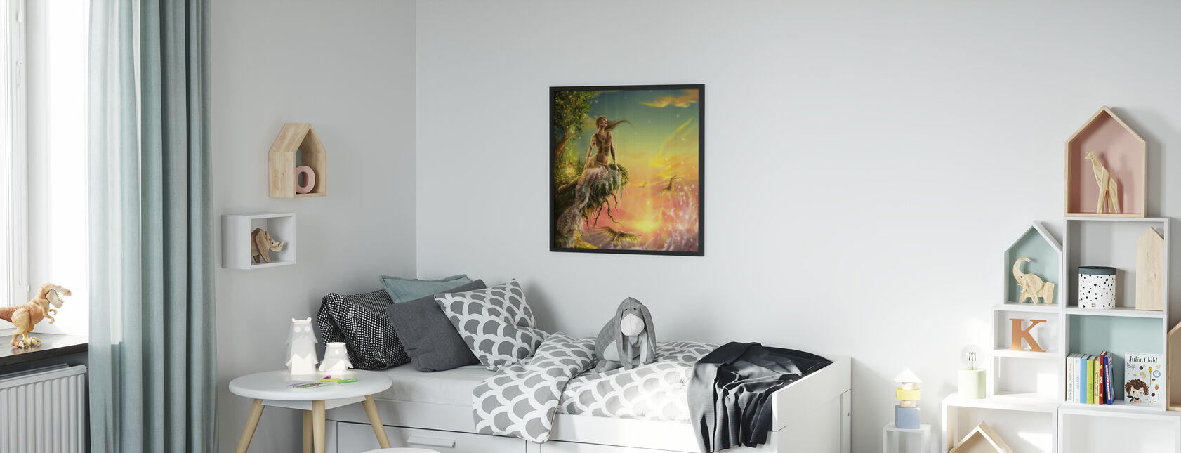 Golden Night - Indrammet billede - Børneværelse
