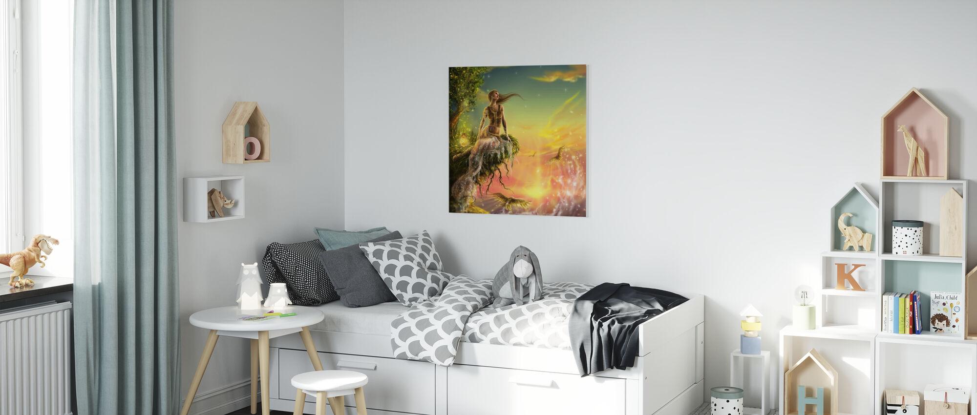 Golden Night - Canvas print - Kids Room