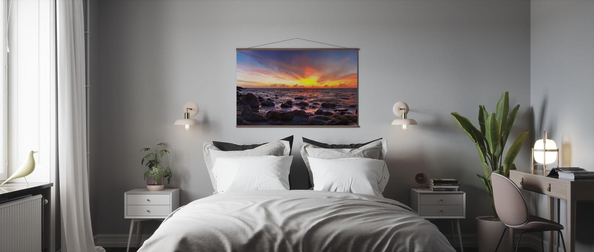 Wilder Sonnenuntergang - Poster - Schlafzimmer
