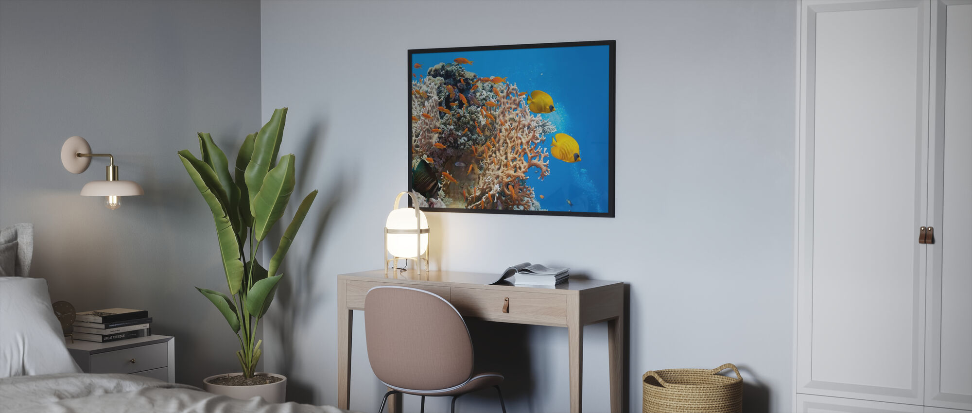 Coral Scene - Panorama - Poster - Bedroom