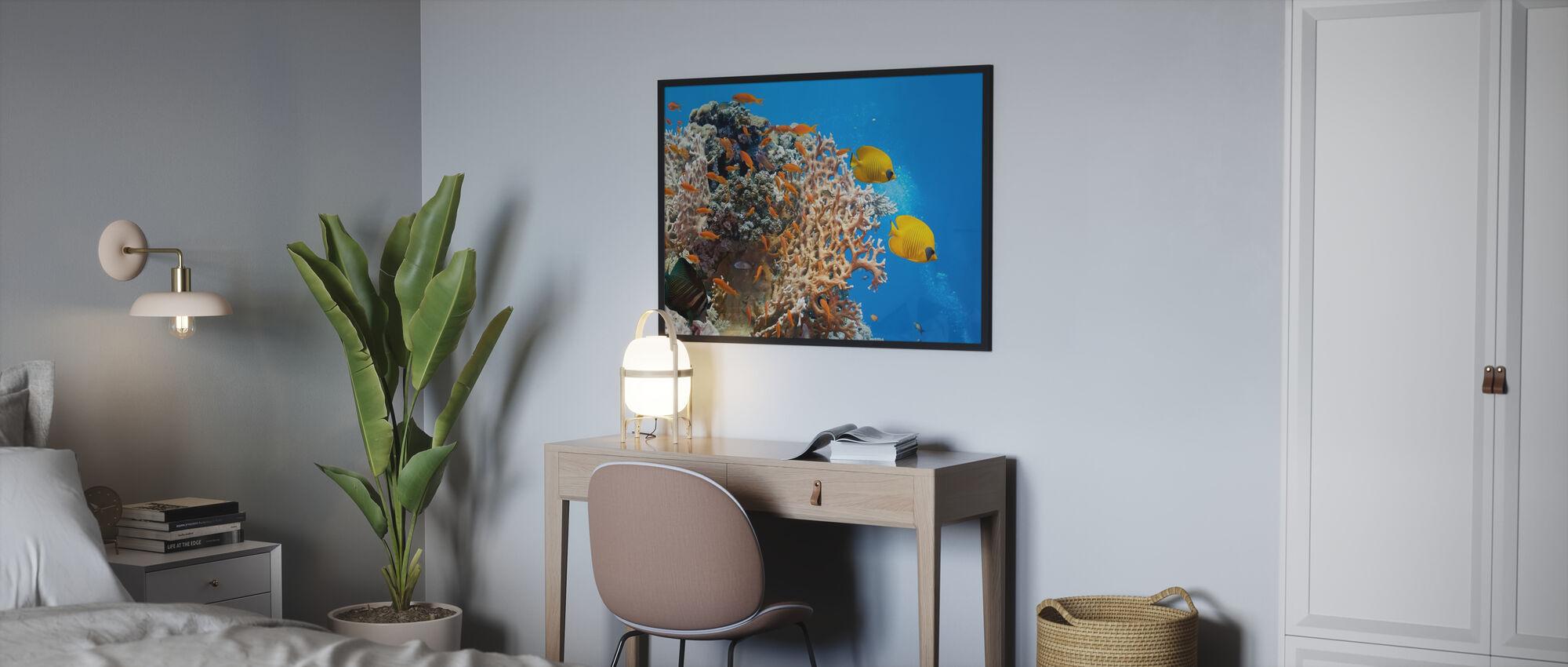 Koralli kohtaus - Panorama - Juliste - Makuuhuone